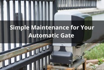 Simple Maintenance for electric gate